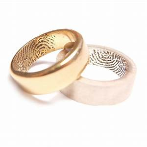 fingerprint wedding band ringcraft moana With fingerprint wedding ring