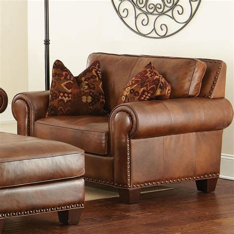 steve silver silverado traditional chair and a half with