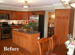 updating oak kitchen cabinets before and after hinsdale cabinets refacer oakbrook kitchen cabinet