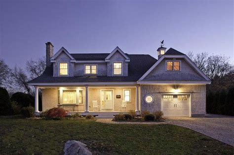 Traditional Dormer Windows by Front Exterior At Dusk Traditional Exterior Boston