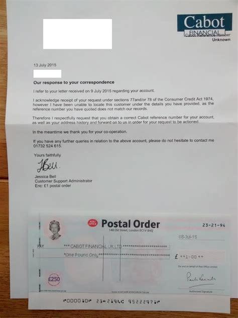 court claim cabot financial uk limited sainsburys