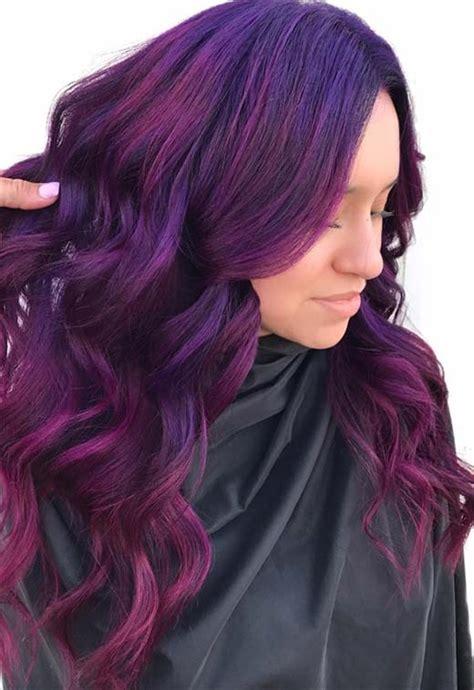 purple hair color ideas  swoon  violet purple