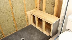 Shower Bench Seat Framing And Construction