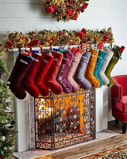 Christmas Stocking Decor Velvet Stevens Personalized Holiday