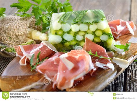 aspic cuisine asparagus jelly with salmon royalty free stock photography cartoondealer com 69401633