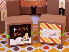 Thanksgiving Party Favor Ideas