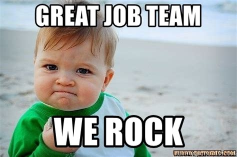Rock Baby Meme - great job team we rock victory baby meme generator