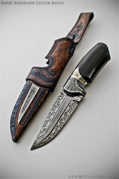 Custom Dagger Andr 233 Andersson Custom Damascus Knives