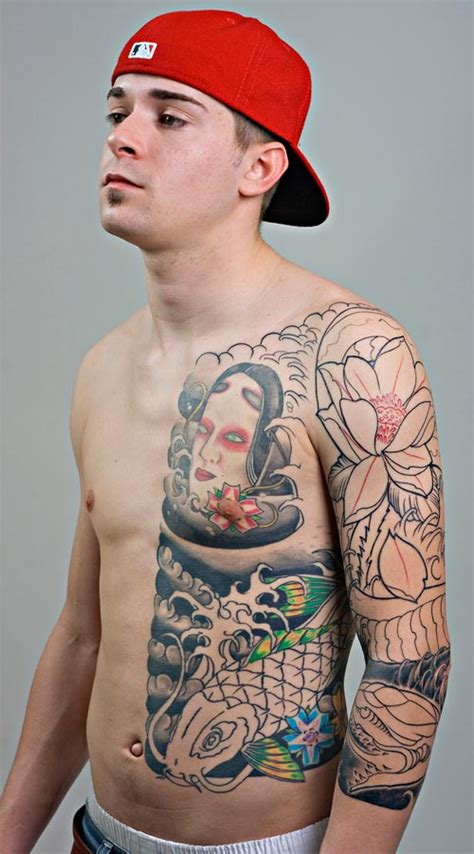 cool chinese ribs tattoo fur guys
