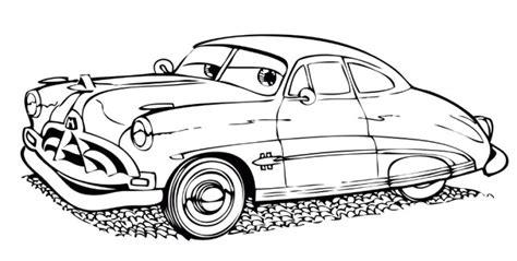 disegni da colorare per bambini cars disegno di cars con doc hudson da colorare