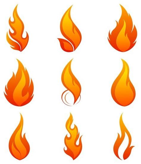 flames clipart icon 1 vector image clipart me