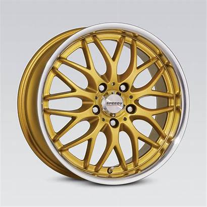 Cheetah Wheels Gold Lip Machined Speedy Passenger