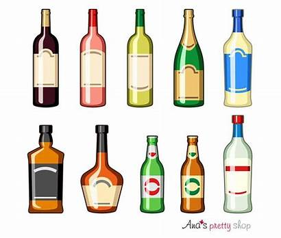 Alcohol Clipart Clip Bottle Wine Bottles Beer