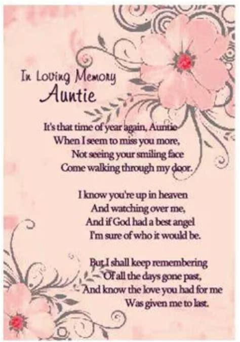aunt  heaven  loved   heaven aunt quotes