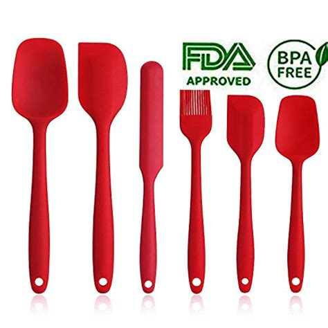 spatula silicone rubber resistant heat kitchen utensils stick stainless core non piece steel march mixing baking cooking