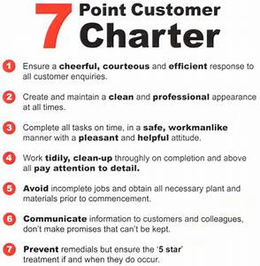 stories and ramblings 7 point customer charter With customer care charter template