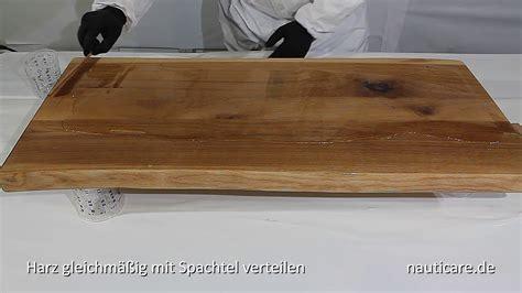 Kunstharz Für Holz by Gie 223 Harz Holz Tisch Eingie 223 En