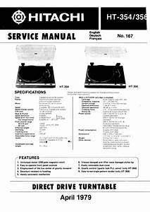 Hitachi Ht-356 Service Manual