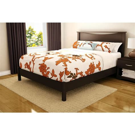 1854 south shore platform bed south shore step one size platform bed in chocolate