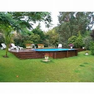 Piscine Bois Ubbink : piscine bois sunwater ubbink 300x490cm h 120cm liner bleu ~ Mglfilm.com Idées de Décoration