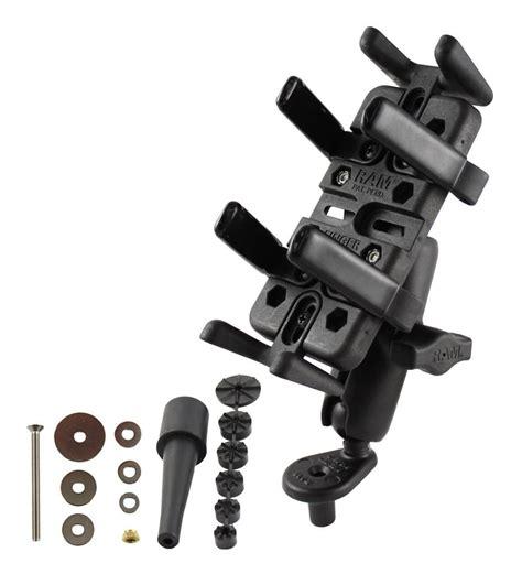 ram phone mount ram mounts stem mount finger grip cell phone kit revzilla