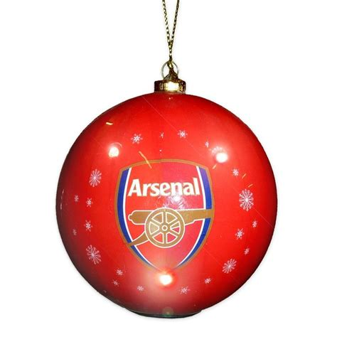 arsenal fc official gift boxed flashing bauble christmas