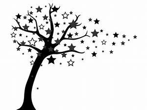 Wandtattoo Baum mit Sternen Wandtattoos de