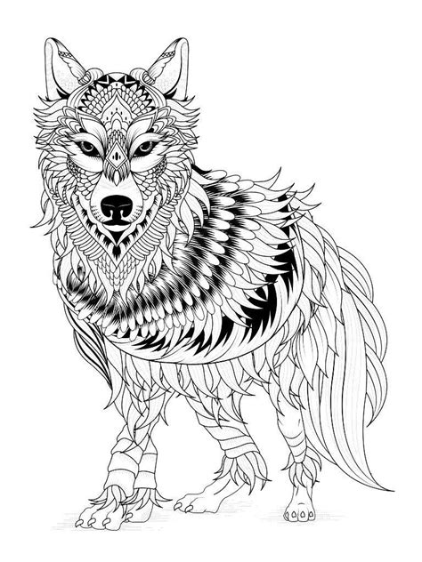 Wolf Coloring Pages | Worksheets | Mandala coloring pages, Dog coloring page, Mandala coloring