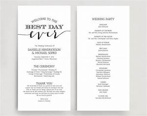 Wedding programs wedding program instant download wedding program printable template instant for Downloadable wedding programs