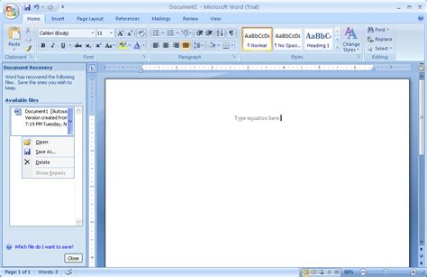 recover  document document recover editing