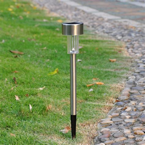 6 Pack Outdoor Stainless Steel Led Solar Power Light