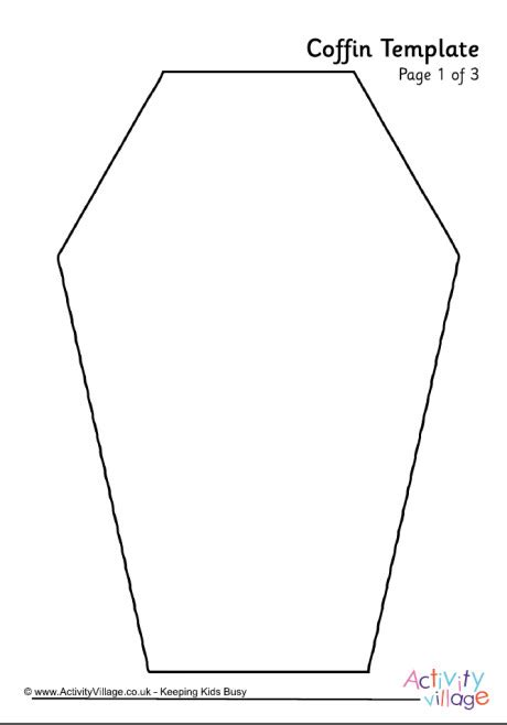 Coffin Cake Template by Coffin Template