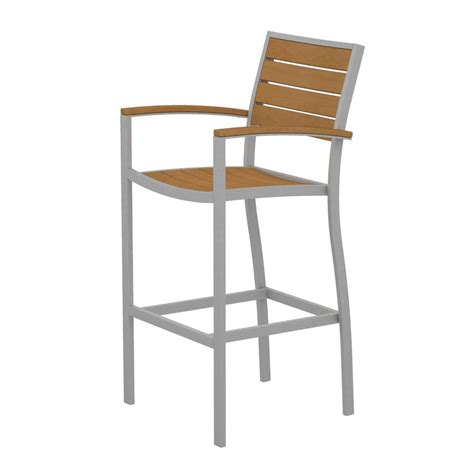 shop polywood slat seat aluminum patio bar height chair at