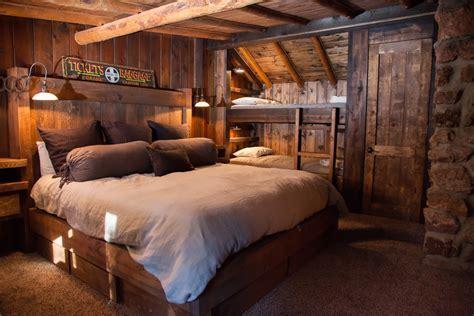 Rustic guest room ideas bedroom rustic with log cabin