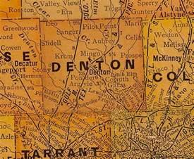 Denton County Texas Map