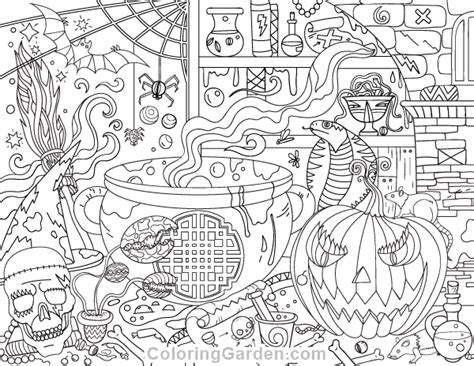 Free Printable Halloween Adult Coloring Page. Download It
