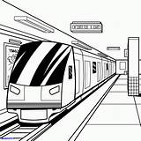 Subway Train Coloring Pages Drawing Printable Getcolorings sketch template
