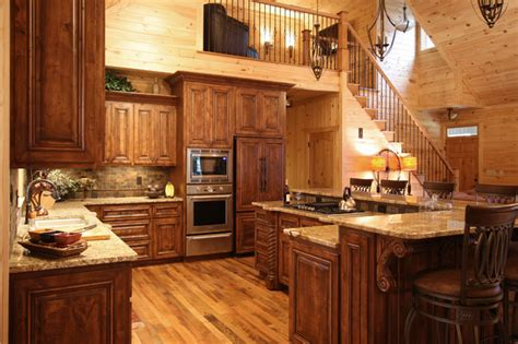 rustic cabin style rustic kitchen charlotte