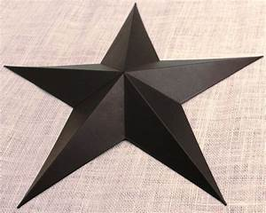 Large metal tin barn star wall decor