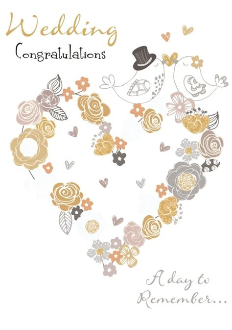 wedding day congratulations greeting card cards