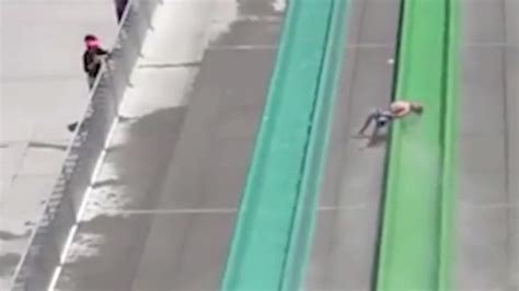 Boy, 10, Thrown From Water Slide Onto Concrete Below Just