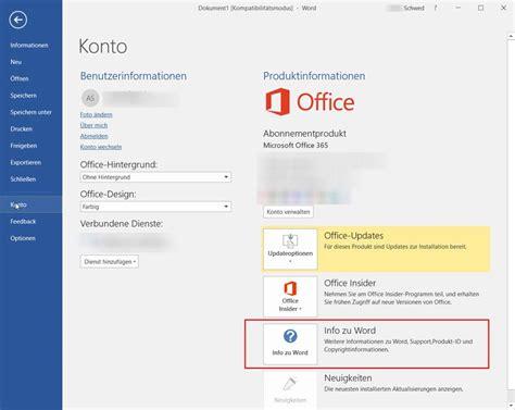 Office Version by Wie Finde Ich Meine Office Version Heraus Anuschka Schwed