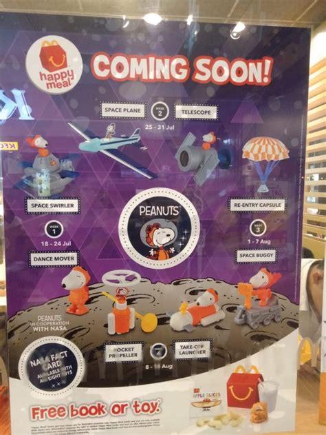snoopy  nasa happy meal toys  coming  mcdonalds
