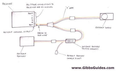 Nitro Servo Wiring by How To Add A Seperate Power Supply For A Retract Servo By