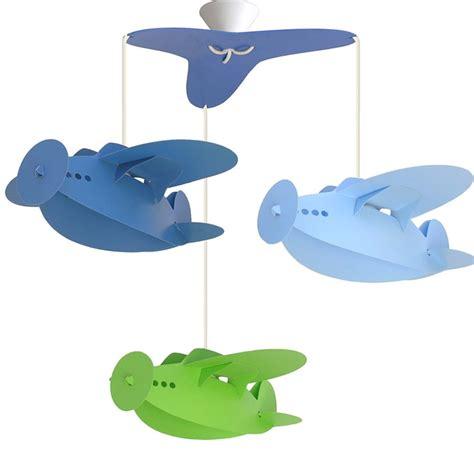 lustre chambre enfants lustre chambre enfant quot 3 avions quot ciel bleu et anis