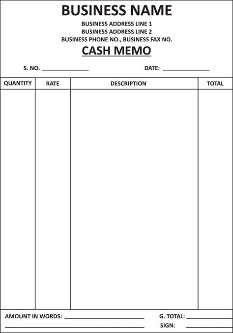 cash bill format submited images pic  fly al