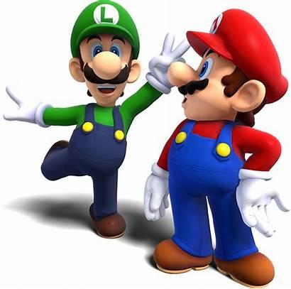 Mario Luigi Super Bros Transparent 3d Render
