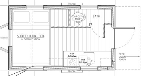 house floor plans an affordable tiny house design to take the grid or into the back yard