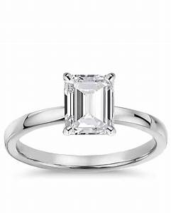 emerald cut engagement rings wedding promise diamond With emerald cut engagement rings with wedding band