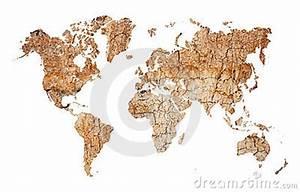 Bäume Für Trockenen Boden : weltkarte kontinente vom trockenen geverlassenen boden ~ Lizthompson.info Haus und Dekorationen
